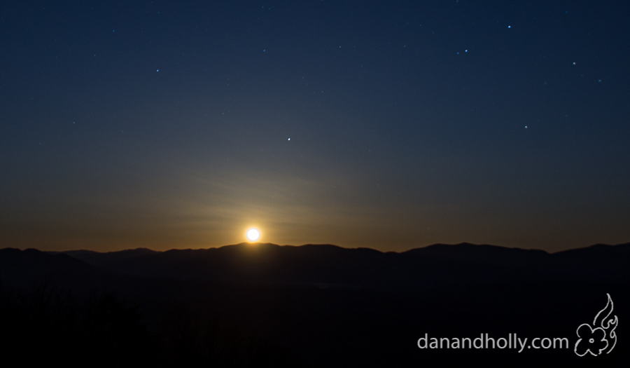 Moonrise over the Smokies